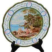 Decorative Sevres Plate with Roman Scene as originally painted by the Italian Artist, Andrea .