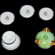 Five Assorted Porcelain Salt Dips