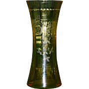 Hawkes Cut Glass Vase American Brilliant Period