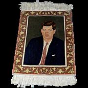 John F Kennedy -Hand Knotted Persian Tabriz Rug