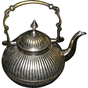 Brass Teapot with Silver-plated