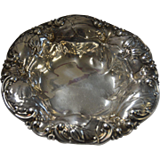 "Art Nouveau, Whiting 6072 Sterling Silver 5-3/4"" Floral Bowl"