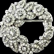 Rare 1940 Alfred Phillipe Crown Trifari Book Piece Pin/ Brooch Collectible
