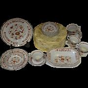 Wedgwood of Etruria Kashmar Pattern English China Set with Plates and Teacups