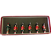 REDUCED 6 Toy Soldier collection by Fred Wehr Highland Regiment, British Army