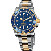 SOLD Men's Submariner Oyster Perpetual Date Rolex Watch with 18K Yellow Gold and Stainless ...