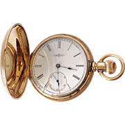 SALE Vintage Round Elgin Pocket watch with 14K Yellow Gold, Roman Numerals, and matching fob!