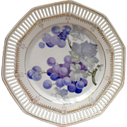 Vintage Bavarian Porcelain Plate with grape painting