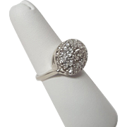 Diamond & White Gold Cluster Ring