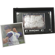 Nolan Ryan Enviromint Strike Out Leader .999 Silver Bar with COA Card