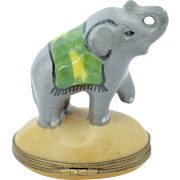 SALE Hand Painted French Limoges Elephant Box