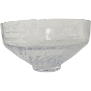 Lenox Crystal Etched Lighthouse Bowl