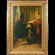 """Large Oil on Canvas after Landseer """"High Life"""""""