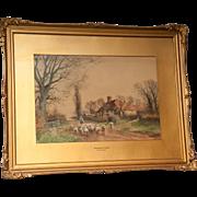 An English Watercolor Painting