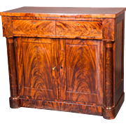 An American Empire period Mahogany chest / cupboard