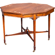 A Very Good English Octagonal Occasional Table or Games Table in Rosewood.