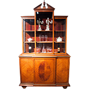 A very attractive English Antique Display Cabinet in Satinwood.
