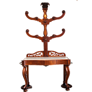 A Very Rare English Mahogany Hall Tree in its most original form Circa 1840
