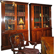 A Pair of English William IV period Mahogany Bookcases, circa 1835.