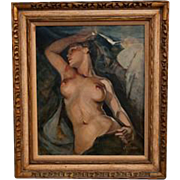 A Contemporary painting of a Nude, signed G Giavanetti.