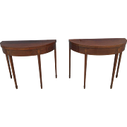 A pair of English early 19th century Mahogany Tea Tables.