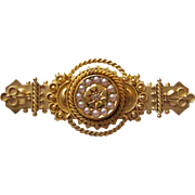 15K English Etruscan Revival Brooch