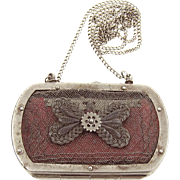 French Silesian Wirework Coin Purse Early 19th Century