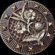 Antique Button Flowers Cut Steel Accents