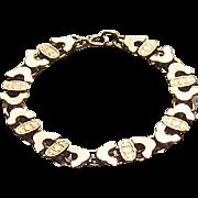 Antique Victorian Book Chain Bracelet
