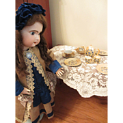 1950's Complete Set of Lustre Ware Child's Doll Dishes In Original Box