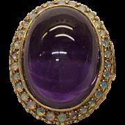 9K Amethyst Opal Ring