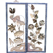 Copper Plated Panels of Flowers