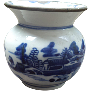 Blue and White Porcelain Lime Container in Bleu de Hue Style