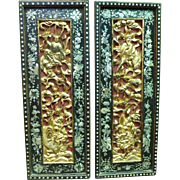 Pair of Carved Panels Depicting Immortals Upon Animals of Supernatural Power