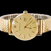 Vintage 14K  Gold Jules Jurgensen Calendar  Wrist Watch