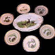 Wonderful Porcelain Game Platter and Plates