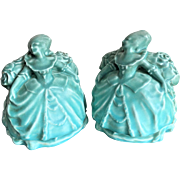 REDUCED Rookwood Colonial Lady Bookends, 1920, William McDonald Mark