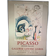 Picasso Dessins 1966-1967 Galerie Louise Leiris Lithograph/Poster