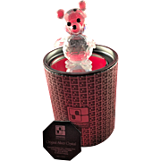 Retired Swarovski Crystal King Bear 7637