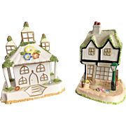 REDUCED A pair of 20th Century Coalport Collectible Cottages, Bone China