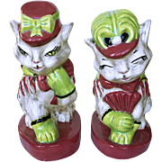 SALE Brayton Laguna Fifi and Zizi Pottery Cat Figurines