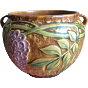 REDUCED 1930's Roseville Pottery Wisteria Bowl with Handles 4 1/2 Inches High