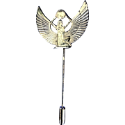 REDUCED Miriam Haskell Egyptian Revival Isis Goldtone Stick Pin