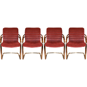 Vintage, Cantilever Dining Chairs, S/4