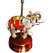 Vintage Musical Rotating CIRCUS ELEPHANT by Aldon White, Plays Roll Out the Barrel