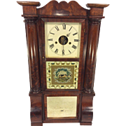 SALE Antique 1850s Forestville Mfg Co (J C Brown) Triple Decker Column & Cornice Clock Unique