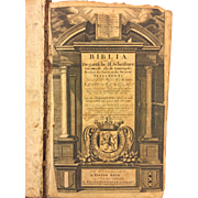 SALE 1719 Dutch Bible Biblia, dat is de gantsche H. Schrifture vervattende alle de canonijcke
