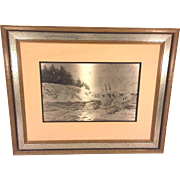 SALE Vintage Jamie Wyeth Sterling Silver Artwork 1977 Coast of Maine Issued by Franklin Mint .