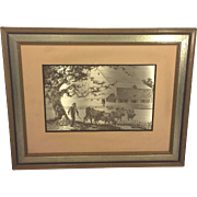 SALE Vintage Jamie Wyeth Sterling Silver Artwork 1977 Pennsylvania Farm Country Issued by ...