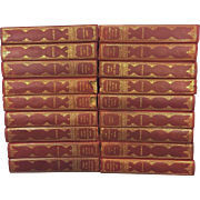 SALE Antique Books 18 Volumes of Luise Muhlbach 1905 Leather Bound Historical Novels w/ ...